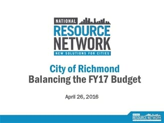 richmond 2017 budget